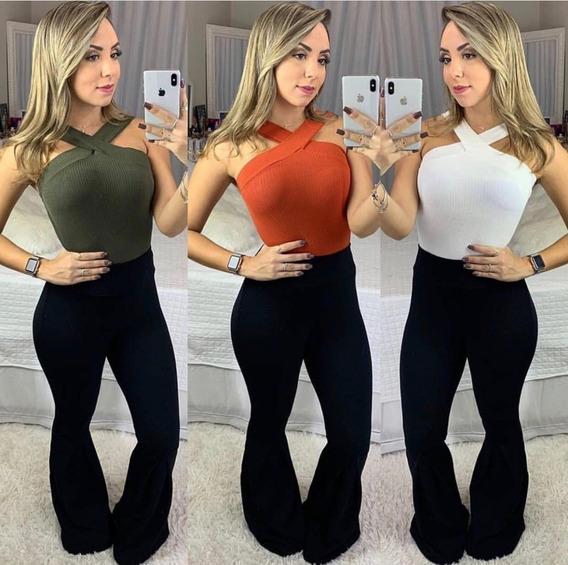 Body Cruzado Tranpassado Feminino Canelado