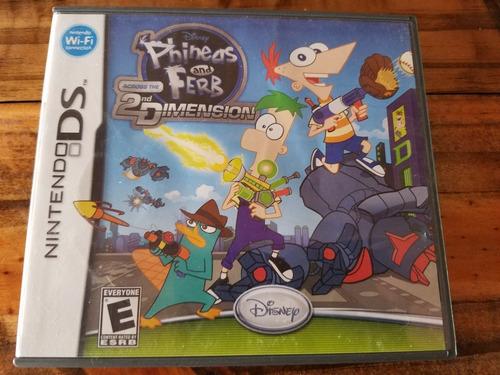 Juego Nintendo Ds Phineas And Ferb Original