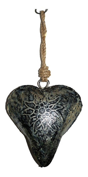 Colgante Llamador De Angeles Corazon Metal Deco Home Studio