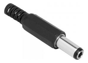 Plug P4 Plástico Preto - 30 Pçs