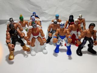 Lote D 11 Luchadores Patones Modelos Varios