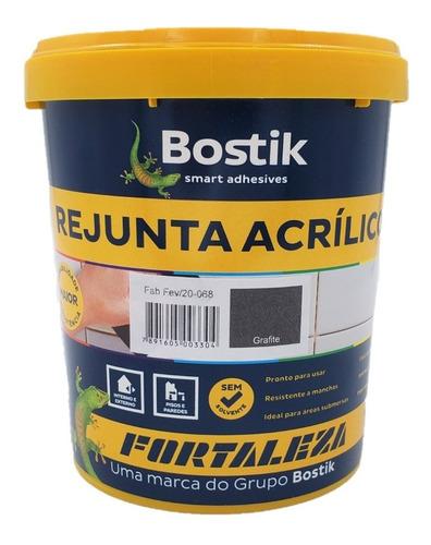 Rejunte Acrílico Grafite Piscina / Porcelanato 1kg Fortaleza