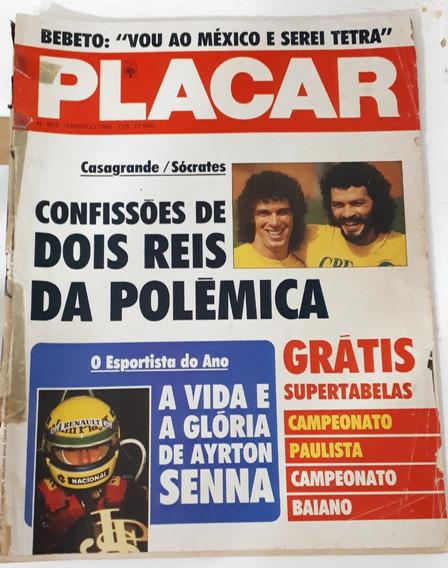 Revista Placar Nº 823 Março 1986 - Casagrande Socrates Senna