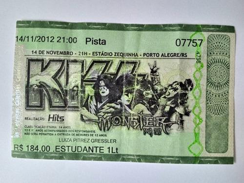 Kiss Ingresso Souvenir Show Monster Tour 2012 Porto Alegre