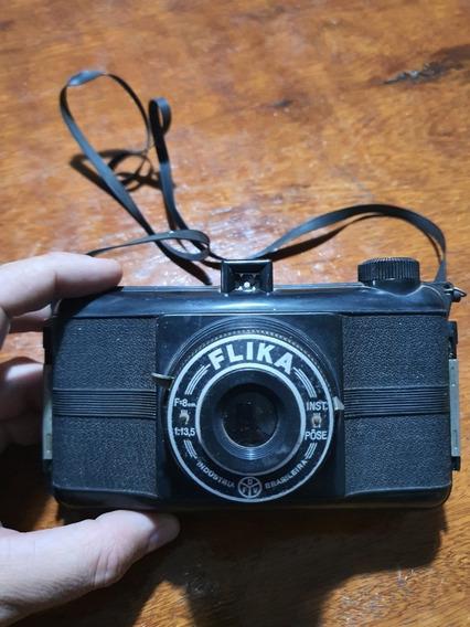 Camera Fotográfica Antiga Flika Ótimo Para Decoração.