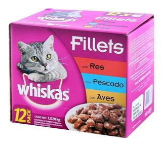 Alimento Para Gato Whiskas 12 Pzas De 85 G