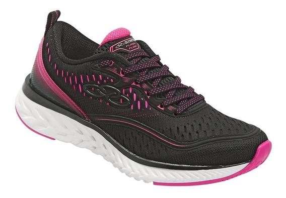 Tênis Feminino Olympikus Flash Flow 556 - Preto/pink