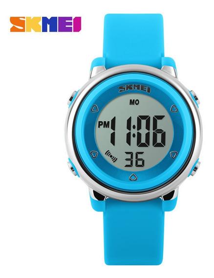 Relógio Infantil Menina Skmei 1100 Digital Roxo Prova D´água