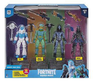Fornite Conjunto De 4 Figuras 10cm. Y Accesorios