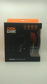 Headset Gamer Hs201 Fone De Ouvido Mic Oex Prime Preto Usb