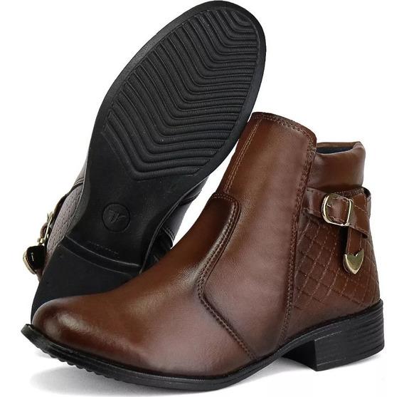 Bota Coturno Preto Feminino Montaria Fivela Sw Shoes