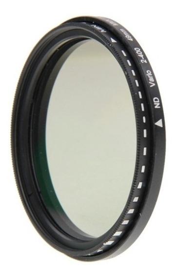 Filtro Nd 49mm Variável Nd2 A Nd400 Densidade Neutra Fader