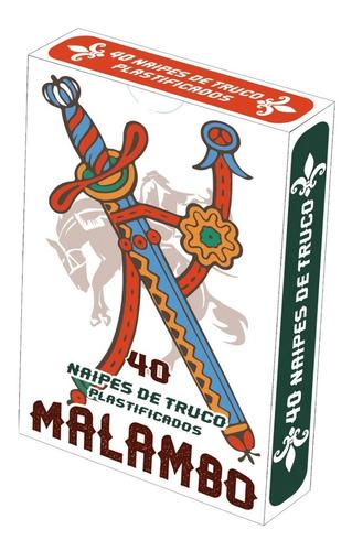 Imagen 1 de 2 de Naipes De Truco Plastificados Malambo  X 40 1875 (4823)