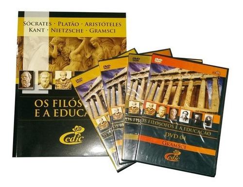Imagem 1 de 6 de Box Dvd Os Filósofos Educação 1 + Brinde