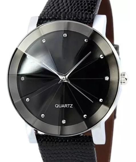 Relógio Pulso Preto Masculino Feminino Casual Quartz Barato!