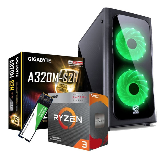 Pc Gamer Amd Ryzen 3200g 8gb Ssd 480gb Placa De Vídeo Vega 8
