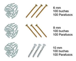 Kit Buchas Plasticas + Parafusos - 6mm 8mm 10mm 600pçs