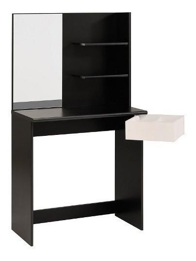 Tocador Modelo Pimpante - Negro Con Blanco Këssa Muebles
