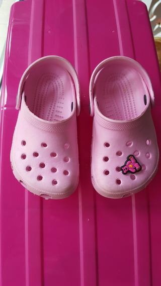 Crocs Como Nuevas Nena Rosa Talle 21