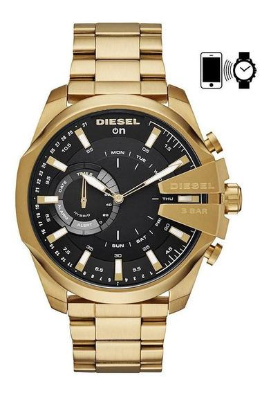 Smartwatch Diesel On Híbrido Masculino Dourado - Dzt1013/1di