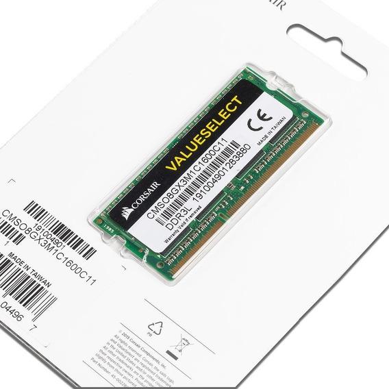 Memoria Ram 8 Gb 1x8gb Corsair Cmso8gx3m1c1600c11*ctas S/int