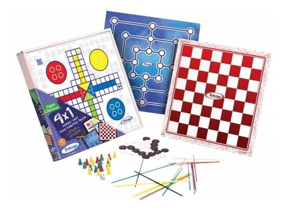Jogo Tabuleiro 4 Em 1 Dama Ludo Trilha Pega Vareta Brinquedo