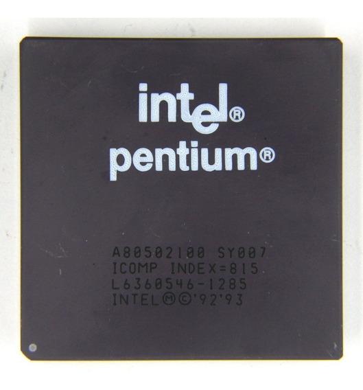 Processador Pentium Antigo Vintag Raro Cerâmico Sy015/007