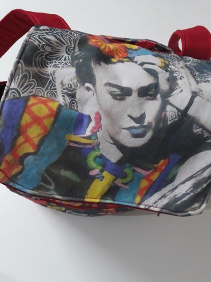 Mochila Frida Kahlo Personalizada Con Nombre