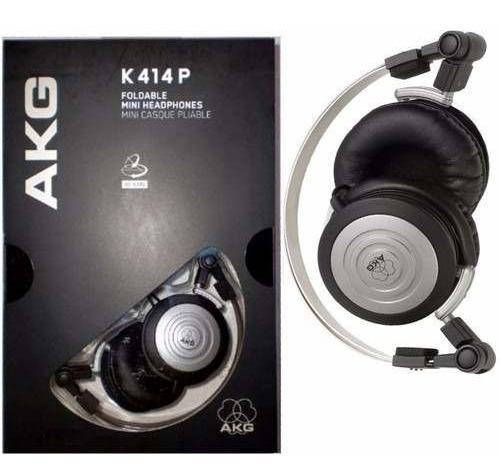 Fone Akg K414p Original + Bolsa - Novo K414 Mundo Da Música