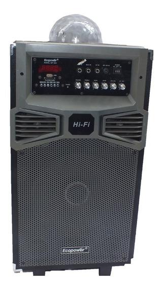 Caixa De Som Amplificada Ecopower Ativa Bateria Usb A10266