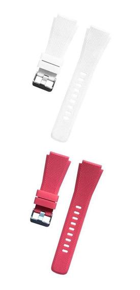 2 Unidades Bandas De Silicona Conecta Con Samsung Gear S3 De