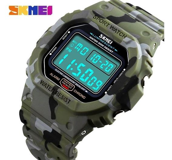 Skmei Relógio Camuflados Top De Luxo Sport Militar Promoção