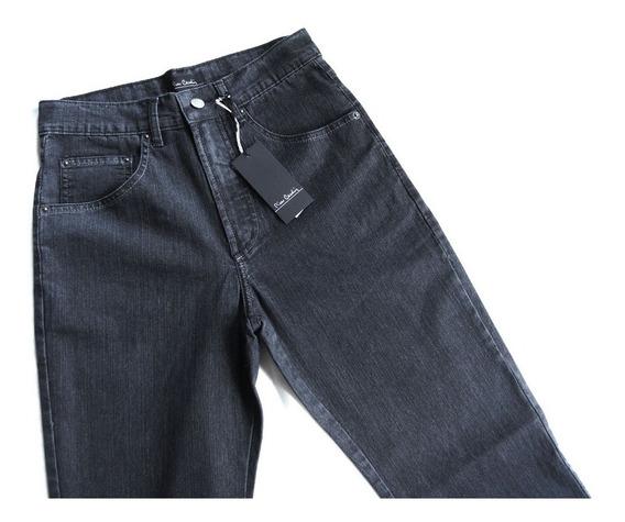 Calça Jeans Preta Pierre Cardin Original Tradicional 056/70