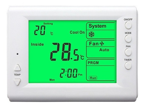 Imagen 1 de 7 de Termostato Digital Programable Frio Calor Display Xl Envios