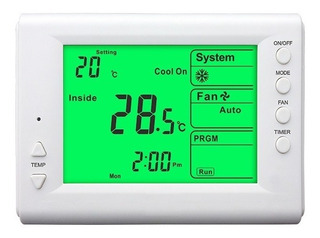 Termostato Digital Programable Frio Calor Display Xl Envios