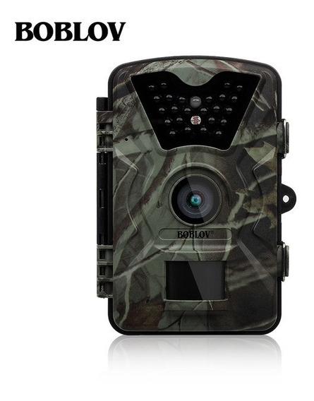 Câmera De Trilha Boblov + Carregador Sony + 8 Pilhas Sony Aa
