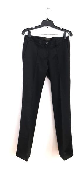 Pantalon De Vestir Etiqueta Negra Saten Recto Talle Small