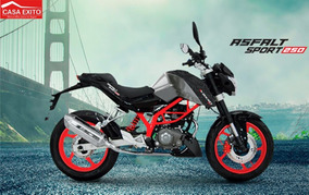 Moto Axxo Asfalt 250 Año 2017 250cc Color Rojo, Negro, Blan