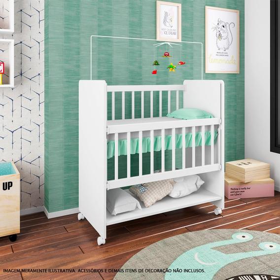 Mini Berço Com Rodízios - Sleepers - Soninho - Branco - Art In Móveis