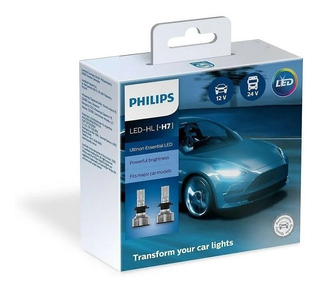 Lampara H4 H7 H8 H11 Led Philips Essential 6500k Sup Cree