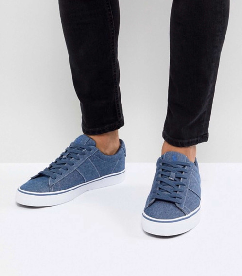 Tenis Polo Ralph Lauren Denim Shoes Núm. 6.5 Mex 100% Origin