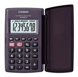 Calculadora De Bolsillo Casio Hl-820lv-bk - Audiomobile
