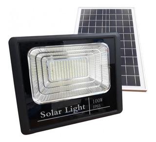 Reflector Solar Led 100w Automática Recargable Exterior