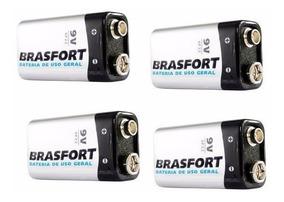 Bateria Pilha 9v Brasfort 12 Unidades