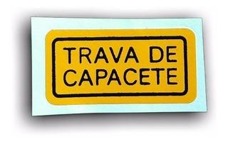 Etiqueta Trava De Capacete Cbx 750 Todas - Original Honda