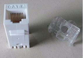 Conector Fêmea Keystone Rj - 45 Cat6-e Rede Utp Internet