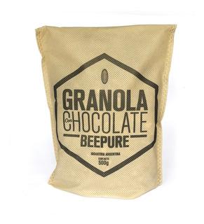Granola Artesanal Con Chocolate Beepure Ecobolsa 500g