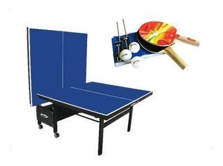Mesa Tenis De Mesa Ping Pong C/ Rodas Oficial Mdf 18mm 1084