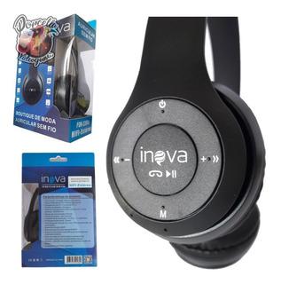 Fone Bluetooth Sem Fio C/microfone E Rádio Digital Sd Mp3 P2