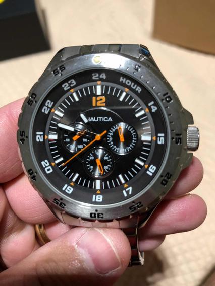 Relógio Marca Náutica Quartz Aço Inoxidável Seminovo